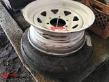 TRAILER WHEELS [2] ONE WITH CARLISLE 4.80-12 TIRE