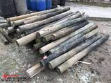 ASSORTED WOOD FENCE POSTS