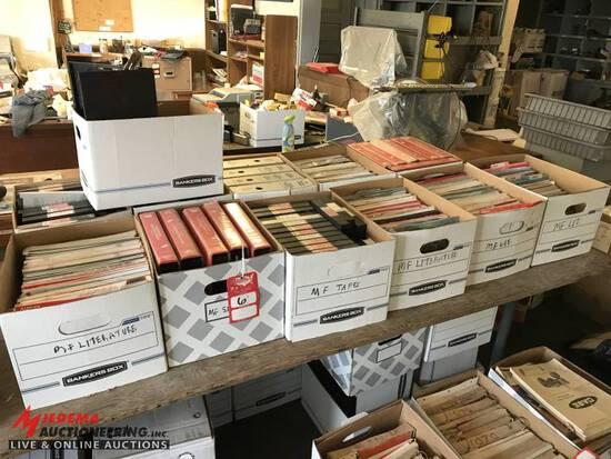 MASSEY FERGUSON MANUALS, VHS TAPES, & LITERATURE [9] BOXES