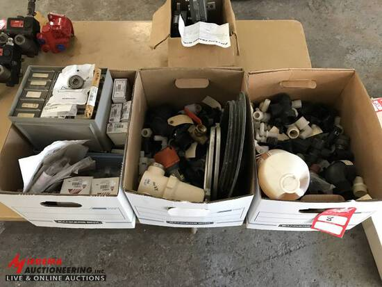 SPRAYER PARTS AND FITTINGS, [3] BOXES