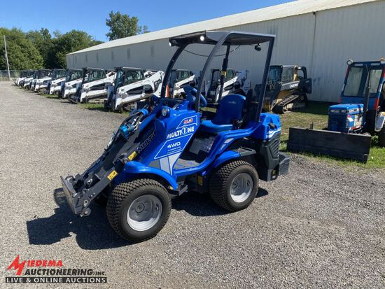 2018 MULTIONE 5.3 UTILITY LOADER, DIESEL, HYDRO STAT, 4 WD, OROPS, AUX HYDR