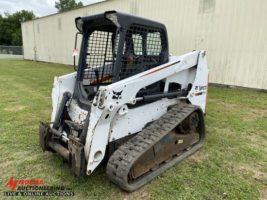 2015 BOBCAT T630 RUBBER TRACK SKID STEER, AUX HYDRAULICS, POWER BOB TACH, H