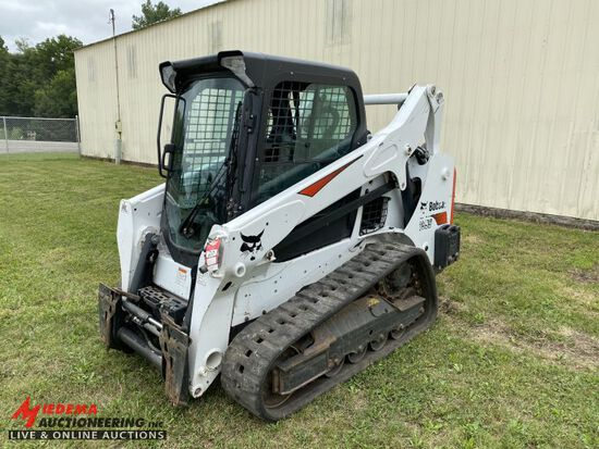 2018 BOBCAT T595 RUBBER TRACK SKID STEER, AUX HYDRAULICS, POWER BOB TACH, H