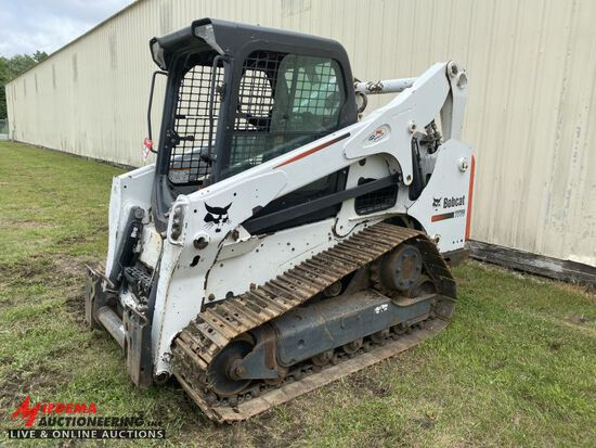 2012 BOBCAT T770 STEEL TRACK SKID STEER, FORESTRY ADDITION,  AUX HYDRAULICS