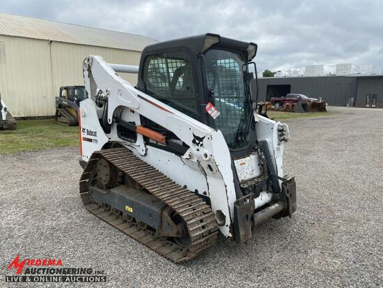 2012 BOBCAT T770 STEEL TRACK SKID STEER, FORESTRY ADDITION, AUX HYDRAULICS,