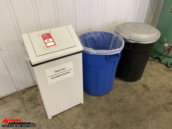 ASSORTED TRASH CANS [3]