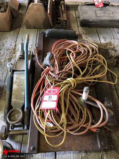 FLOOR JACK, CREEPER, TRAILER JACK, EXTENSION CORDS