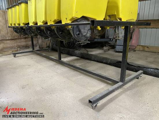 RACK ON CASTERS FOR JOHN DEERE SEED BOXES