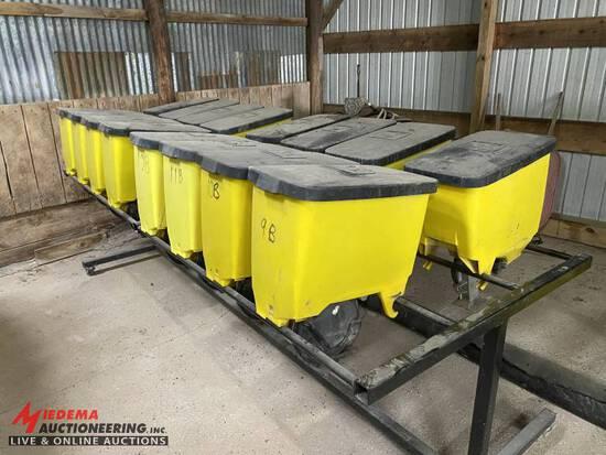 JOHN DEERE 1.6BU PRECISION PLANTING BOXES, NEW JD METERS & BRUSHES
