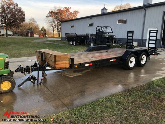 2005 DUMP-MASTER TANDEM AXLE TRAILER, 18' - 16' WITH 2' BEAVERTAIL X 80'', REAR RAMPS, 2 5/16'' BALL