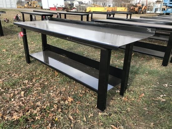 STEEL WORK BENCH, 29'' X 90''