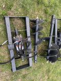 NEW WOLVERINE AUGER ATTACHMENT WITH 12'' & 18'' BITS, SKIDSTEER MOUNT