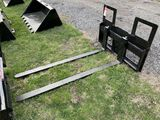FORK ATTACHMENT, 72'', 2550LBS CAPACITY PER FORK
