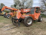 SKYTRAK 8042 EXTEND-A-BOOM FORKLIFT, CAB, 13:00-24 TIRES, REAR HUBS RECENTLY REPLACED, 4649 HOURS SH
