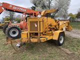 WOODCHUCK HY-ROLLER TOWABLE CHIPPER, DIESEL ENGINE, 18''