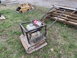 MBW PLATE COMPACTOR, 20'', HONDA 160 GAS ENGINE, WORKED WHEN LAST USED
