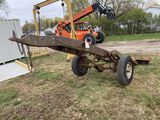 SINGLE AXLE TRUCK FRAME TRAILER, SELLS WITH WEIGHT SLIP 1140 LB