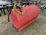 500-GALLON FUEL TANK WITH ELECTRIC PUMP AND HOSE