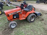 INGERSOLL 226 LAWN TRACTOR, HYDRAULIC DRIVE WITH ROTOTILLER ATTACHMENT, 32'', REAR HYDRAULICS
