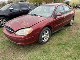 2003 FORD TAURUS 4-DOOR SEDAN, 3.0L V6 GAS ENGINE, AUTO TRANS, CLOTH, PW/L/M, AM/FM-CD, ASSORTED DIN