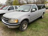 1997 FORD F150 XLT REGULAR CAB TRUCK, 2WD, 4.2L V6 GAS ENGINE, MANUAL 5-SPEED TRANS, TRUCK BED TOPPE
