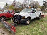 2006 FORD F250 REGULAR CAB PICKUP TRUCK, 4WD, 5.4L GAS, AUTO TRANS, NEW STYLE LONG BOX, BOSS 7'6'' F