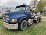 1994 FORD LTL 9000 TANDEM AXLE SEMI TRUCK, AEROMAX SERIES 60 DETROIT DIESEL, 430-HP, 13-SPEED TRANS,