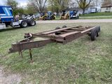 18' ASSEMBLED TRAILER, CAR HAULER OR TRACTOR HAULER, TANDEM AXLE, SELLS WITH WEIGHT SLIP 1640 LB