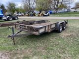 16' TANDEM AXLE TRAILER, 78'' WIDE, 2'' BALL, SELLS WITH WEIGHT SLIP 1260 LB