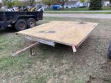 ASSEMBLED SINGLE AXLE TRAILER, 8' X 8', 2'' BALL, SELLS WITH WEIGHT SLIP 560 LB