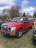 2010 FORD F150 REGULAR CAB PICKUP, 5.4L GAS, AUTO TRANS, 4X4, CLOTH, PW, PL, PM, AM/FM-CD, TOOL BOX,