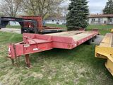 2001 INTERSTATE TANDEM DUALLY 10-TON EQUIPMENT TRAILER, 8' x 21' DECK, WITH 5' BEAVERTAIL, FOLD DOWN