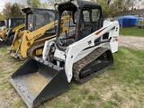 2015 BOBCAT T450 RUBBER TRACK SKIDSTEER, 55'' BUCKET, 2-SPEED, AUX. HYDRAULICS, 1308 HOURS SHOWING,