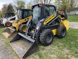 2017 NEW HOLLAND L228 RUBBER TIRE SKID STEER, CAB WITH AC, AUX HYDRAULICS, 2-SPEED, HYDRAULIC COUPLE