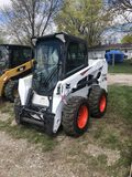 BOBCAT 2550 RUBBER TIRE SKIDSTEER, 2017, AUX. HYDRAULICS, CAB WITH HEAT, POWER QUICK ATTACH, NO BUCK