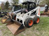 BOBCAT 853 RUBBER TIRE SKIDSTEER, AUX. HYDRAULICS, 66'' BUCKET, 12-16.5 TIRES, 455 HOURS SHOWING, S/