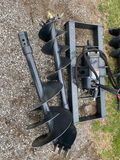 WOLVERINE AUGER ATTACHMENT WITH 12'' AND 18'' BIT, SKIDSTEER MOUNT