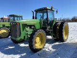 1995 JOHN DEERE 8300 TRACTOR, 3-POINT, QUICK HITCH, PTO, 4-REMOTES, MFWD, 380-90 R50 REAR DUALS, 320