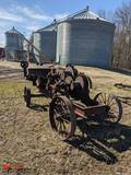 CLYDE IRON WORKS CABLE WINCH, NO MOTOR, STEEL WHEELS
