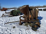 JAEGER MACHINE CO. 3-1/2 S CEMENT MIXER, GAS ENGINE, FLAT TIRES, RUNNING CONDITION UNKNOWN