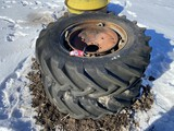 GOODYEAR 14.9-28 TIRES & RIMS WEATHER CRACKED, 8-BOLT RIMS
