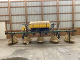 RED BALL 420 4-ROW HOODED SPRAYER, WITH 300-GALLON TANK, 3-POINT, S/N: 04200G06-008118