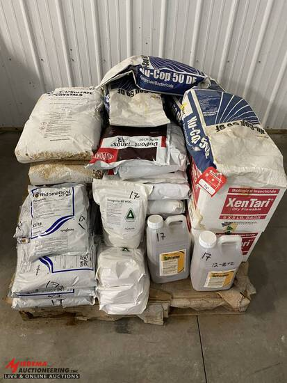NU-COP 50 DF FUNGICIDE, [16] BAGS, BEXES OF XENTARI BT INSECTICIDE [2 BOXES], DUPONT TANOS BAGS [11]