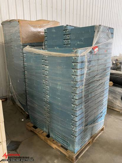 BLUE PLASTIC TOTES, APPROX [169]