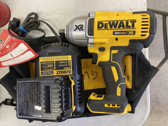 DEWALT 1/2'' IMPACT CORDLESS, 20 VOLT WITH BATTERY, CHARGER AND BAG