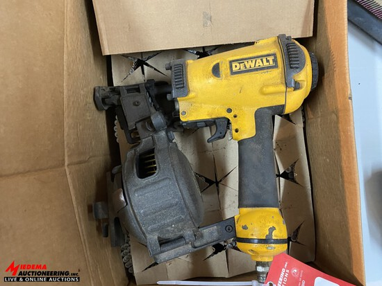 DEWALT PNEUMATIC COIL NAILER, WITH ASSORTED NAILS