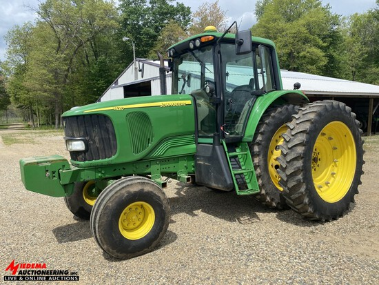 2006 JOHN DEERE 7420 TRACTOR, 3PT, PTO, 2-REMOTES, 420-80R46 REAR DUALS, FRONT WEIGHTS [15], POWER Q