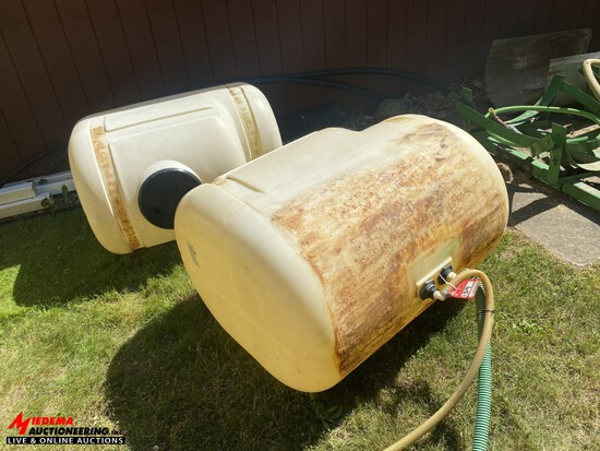SADDLE TANK WITH MOUNTING BRACKETS, 200-GALLONS EACH