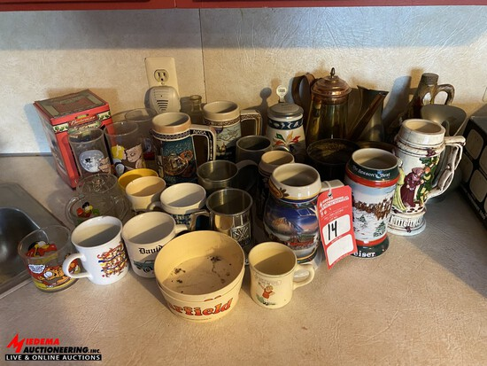 ASSORTED COLLECTIBLE STEINS, MUGS & CUPS