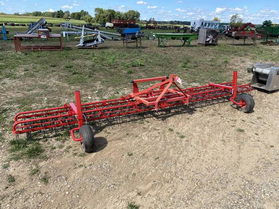 NEW LILLY 15' TINE WEEDER, WITH GAUGE WHEELS, 3PT